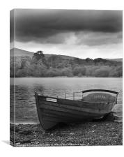 Derwentwater Row Boat, Canvas Print
