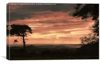 Sunset across Morecambe Bay, Canvas Print