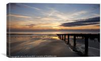 Sunrise over Shanklin beach, Canvas Print