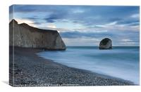Last light across Freshwater Bay, Canvas Print