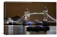 Tower Bridge at Night, Canvas Print