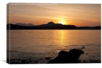 Sunrise from Criccieth Beach, Canvas Print