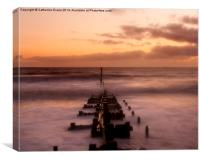 Sunrise at Overstrand, Canvas Print
