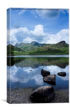 Blea Tarn Reflections, Canvas Print