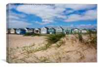 Beach Huts on Hengistbury Head, Canvas Print