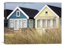 Beach Huts on Mudeford Spit, Canvas Print
