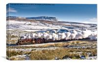 Steam and Snow, Canvas Print