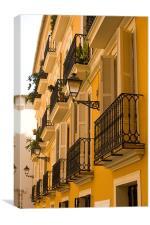 Valencia Balconies, Canvas Print