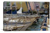Marina view, Canvas Print