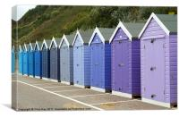Bournemouth Beach Huts, Canvas Print
