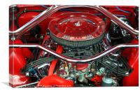 Ford Mustang Engine Bay, Canvas Print