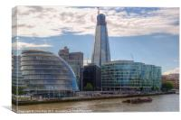 London Assembly and Shard, Canvas Print