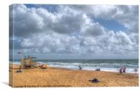Boscombe Beach, Canvas Print