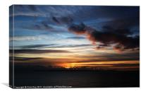 Sunset over Poole Bay, Canvas Print
