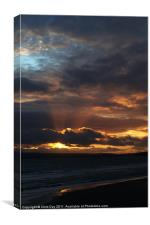 Bournemouth Sunset, Canvas Print