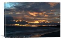 Bournemouth Sunset, Canvas Print