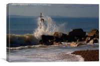 Waves crashing, Canvas Print