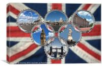 Celebrating London, Canvas Print