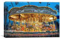Carousel in Bournemouth, Canvas Print