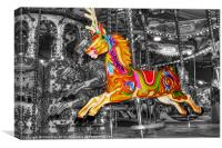 Carousel Horse Elizabeth, Canvas Print