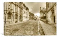 Merton Street Oxford, Canvas Print