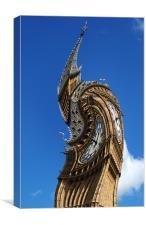 Big Ben abstract, Canvas Print