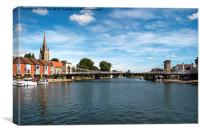 Marlow Bridge, Canvas Print