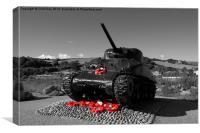 Tank Memorial, Canvas Print