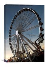 Ferris Wheel at Winter Wonderland, Canvas Print
