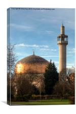 London Central Mosque, Canvas Print