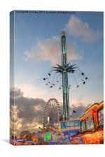 Winter Wonderland Hyde Park 2013, Canvas Print