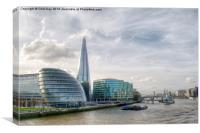 The Shard and London Skyline, Canvas Print