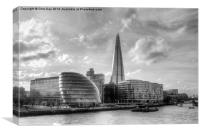 The Shard and London Skyline, Canvas Print