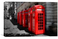 Telephone Boxes, Canvas Print