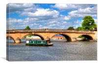 The bridge at Henley-on-Thames, Canvas Print