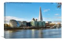 Southwark Skyline, Canvas Print