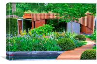 RHS Chelsea Homebase Urban Retreat Garden, Canvas Print