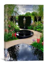 RHS Chelsea Breakthrough Breast Cancer Garden, Canvas Print