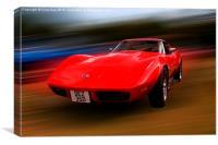 Corvette Stingray, Canvas Print
