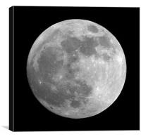 Day before the full Moon, Canvas Print
