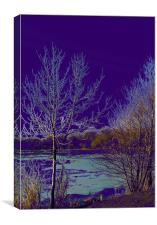Surreal Icy lake in Purple, Canvas Print