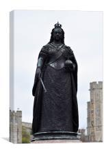 Statue of Queen Victoria, Canvas Print