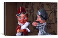 Punch and Judy, Canvas Print