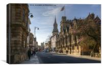 Oxford High Street, Canvas Print