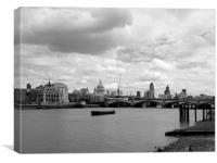 London Skyline in Black and White, Canvas Print
