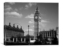 Parliament Square in Black and White, Canvas Print
