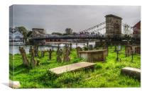 Marlow Bridge from All Saints Graveyard, Canvas Print