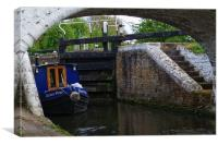 Stockers Lock the Grand Union Canal Rickmansworth, Canvas Print