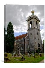 Church of St. Lawrence West Wycombe, Canvas Print