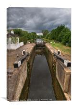 Wide Water Lock Harefield 3, Canvas Print